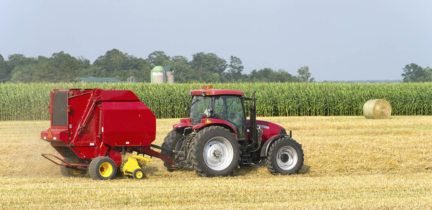 agribusiness, tractor, field