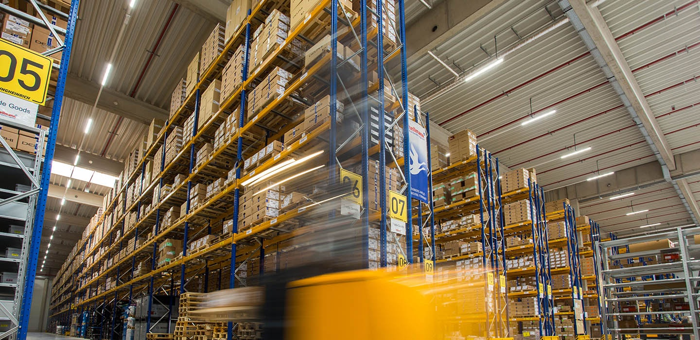 Forklift in Warehouse Contract Logistics