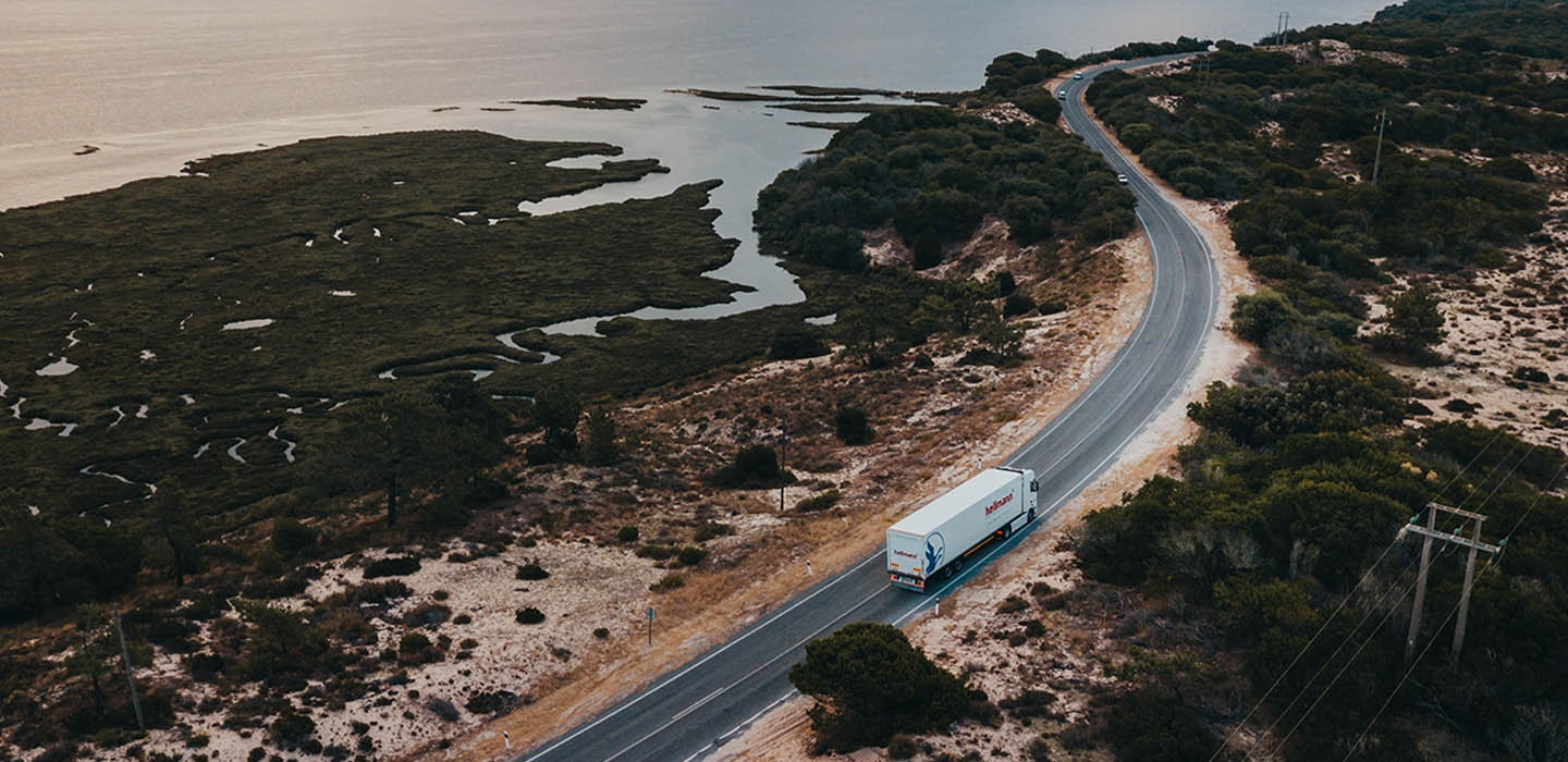 roadfreight, truck, ocean
