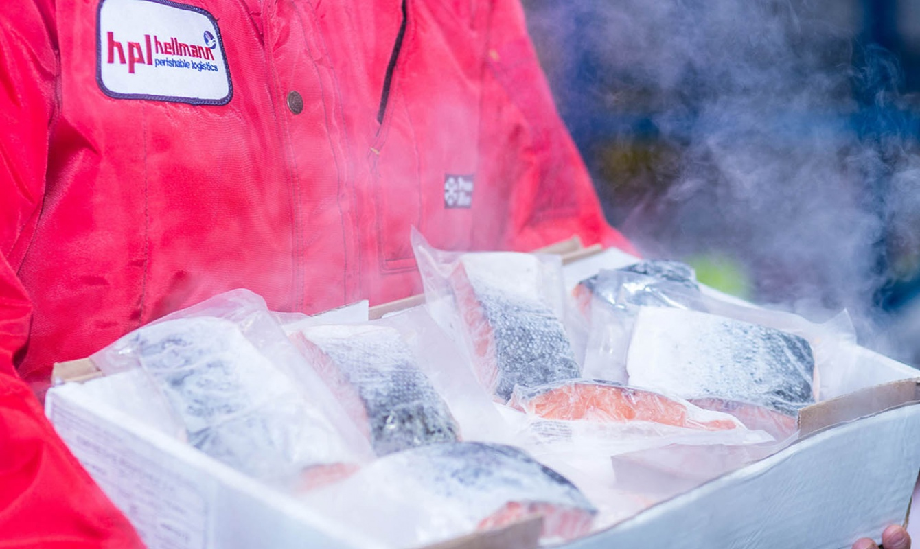 Perishable Logistics temperature-controlled  deep frozen fish