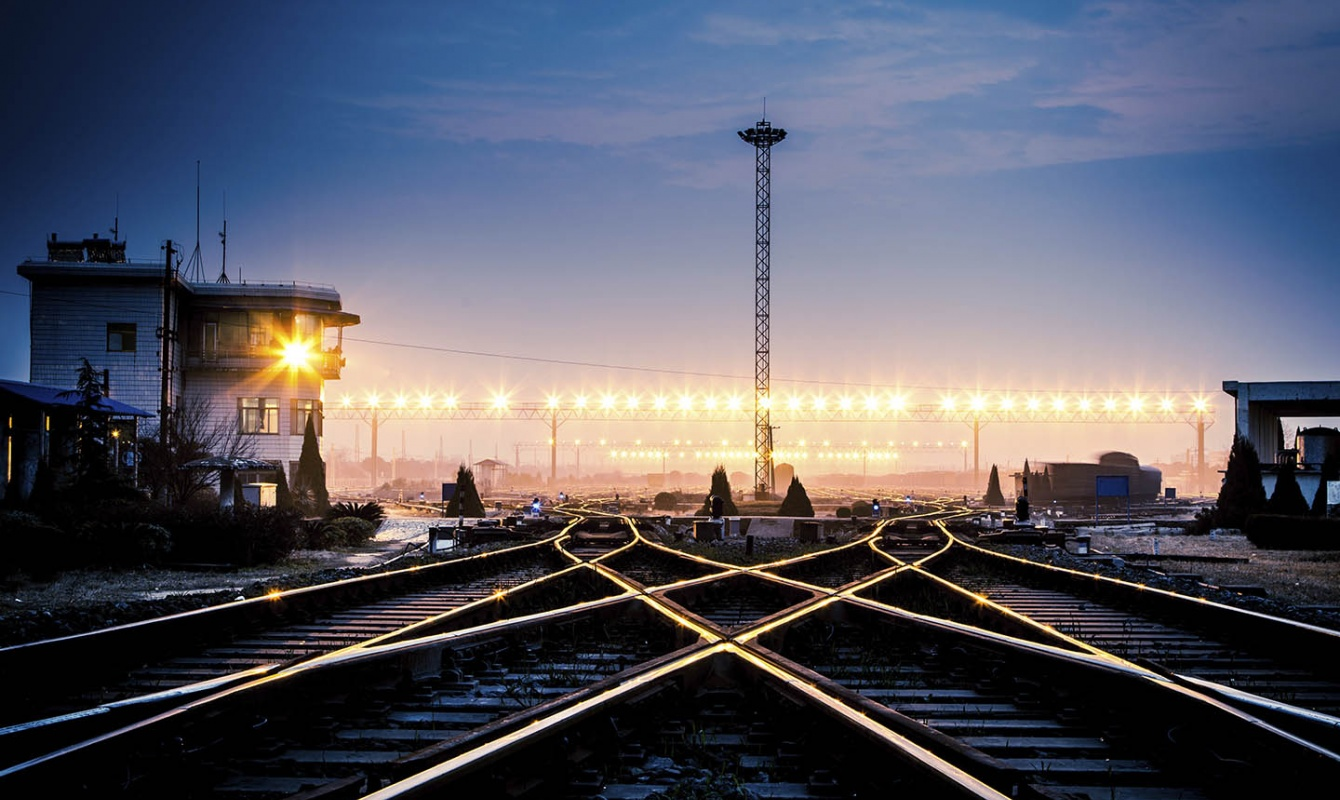 Tracks Switch Rail Freight East Europe